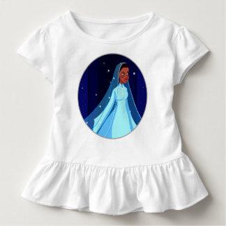 Blue Modest Princess Ruffle Tee