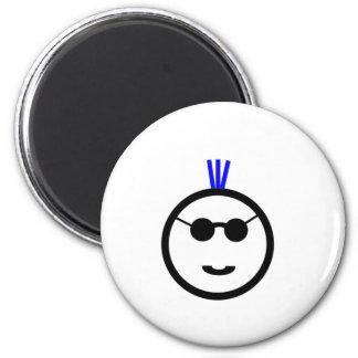 Blue Mohawk Refrigerator Magnets
