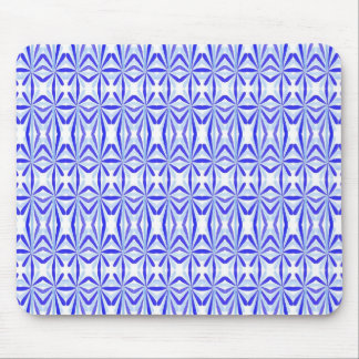 Blue Molecule Abstract Mouse Pad
