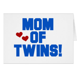 Blue Mom of Twins Card