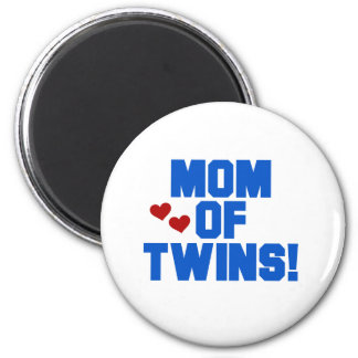 Blue Mom of Twins 2 Inch Round Magnet