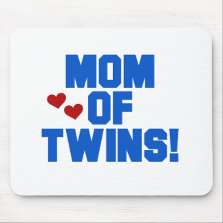 Blue Mom of Twins Mouse Pad