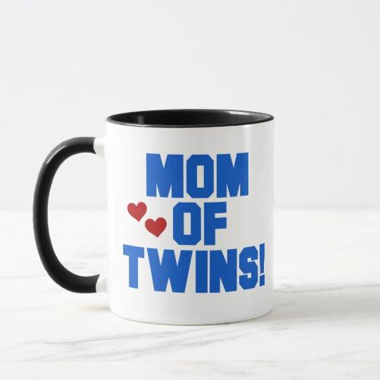 Blue Mom of Twins Mug