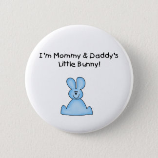 Blue Mommy and Daddy's Little Bunny T-shirts Button