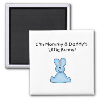 Blue Mommy and Daddy's Little Bunny T-shirts Refrigerator Magnet