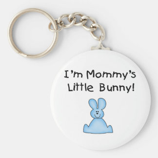 Blue Mommy's Little Bunny T-shirts and Gifts Key Chain