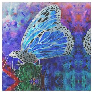 Blue Monarch Kaleidoscope Fabric