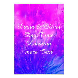 Blue Monday pink Personalized Invitations