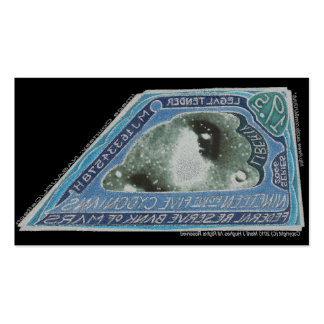 Blue Money-19.5 CYDONIANS-Martian Money Double-Sided Standard Business Cards (Pack Of 100)