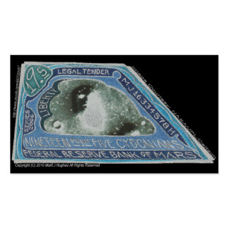 Blue Money-19.5 CYDONIANS-Martian Money ERROR! Double-Sided Standard Business Cards (Pack Of 100)