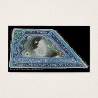 Blue Money-19.5 CYDONIANS-Martian Money ERROR! Business Card