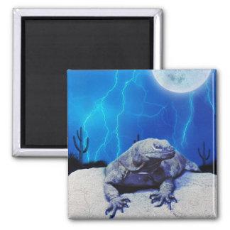 Blue Monitor Lizard Dragon Reptile Fantasy Art Magnet