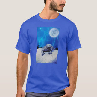 Blue Monitor Lizard Dragon Reptile Fantasy Art T-Shirt