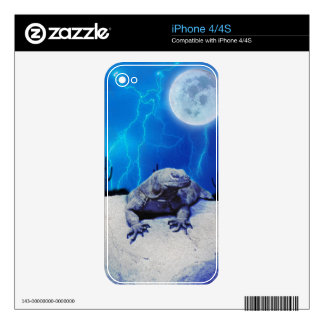 Blue Monitor Lizard Reptile Fantasy Art Skin Decal For The iPhone 4