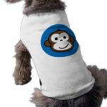 blue monkey doggie t shirt