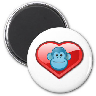 Blue Monkey Love Magnets