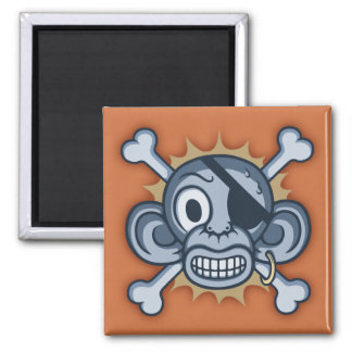 Blue Monkey Pirate Magnet