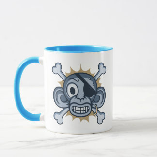 Blue Monkey Pirate Mug