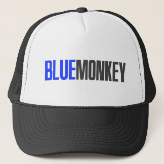 Blue Monkey Trucker Hat