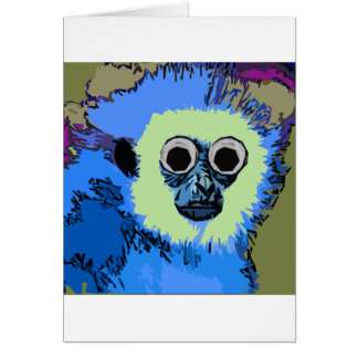 Blue Monkey with the Googly eyes Card