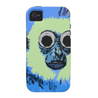 Blue Monkey with the Googly eyes iPhone 4 Cases