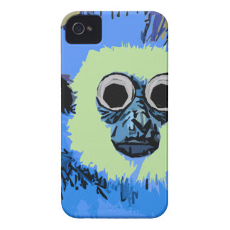 Blue Monkey with the Googly eyes iPhone 4 Case