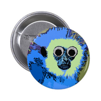 Blue Monkey with the Googly eyes Pinback Button
