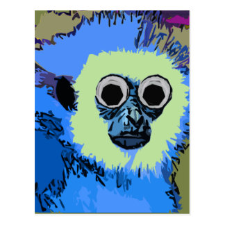 Blue Monkey with the Googly eyes Postcard