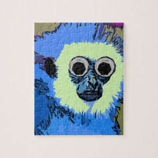 Blue Monkey with the Googly eyes Jigsaw Puzzle