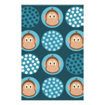 Blue Monkeys and Polka Dots Soap Wrapper Paper