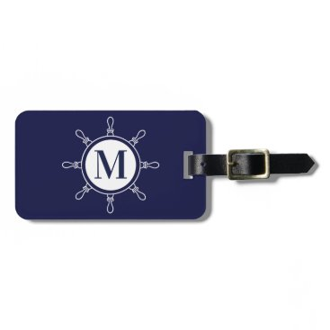Blue Monogram Bag Tag