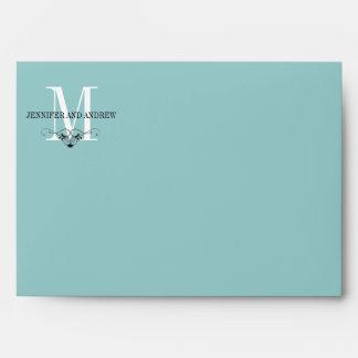 Blue Monogram Chandelier A7 Envelopes