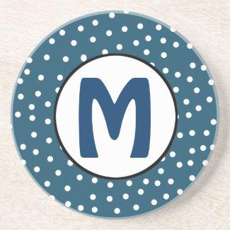 Blue Monogram Coaster coaster