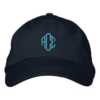 Blue Monogram Embroidered Baseball Hat
