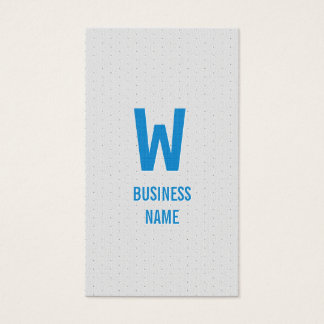 Blue Monogram Financial Advisor Business Card