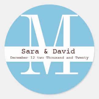blue Monogram label
