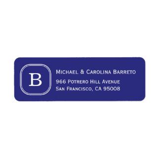 Blue Monogram Labels