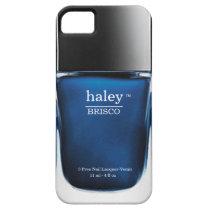 Blue Monogram Nail Polish Bottle iPhone Case