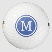 Blue Monogram Personalized Golf Balls