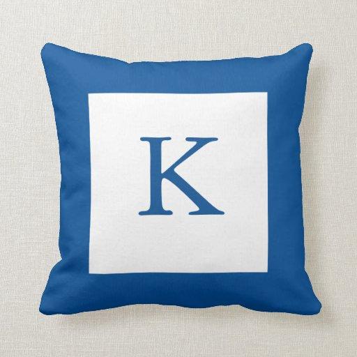 Blue Monogram Pillow