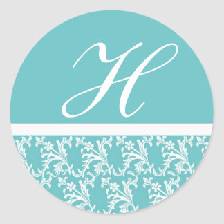 Blue Monogram Sticker