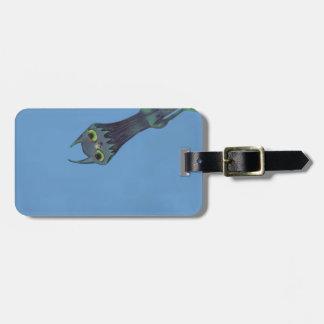 Blue Monster Customizable Bag Tag