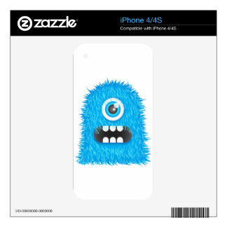 Blue Monster Decals For iPhone 4S