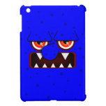 Blue Monster Face, Big Nose Sharp Fangs Cover For The iPad Mini