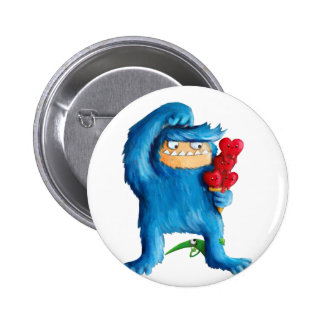 Blue Monster Ice Cream Pinback Button