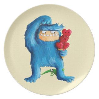 Blue Monster Ice Cream Plate