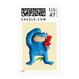 Blue Monster Ice Cream Stamp