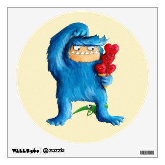 Blue Monster Ice Cream Wall Sticker