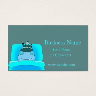 Blue Monster In Bed Sleeping Business Card