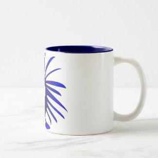 Blue monster Two-Tone coffee mug